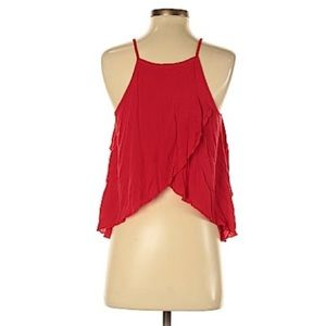 Mossimo Supply Co. Tops - Mossimo Red Spilt Back Top